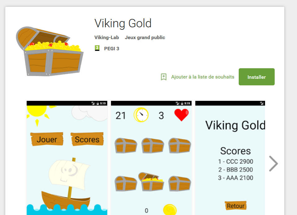 Viking Gold jeux android